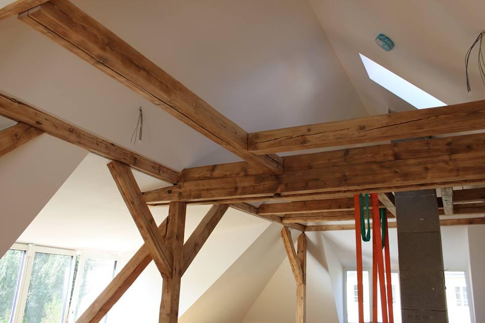 Dachbalken aufgearbeitet Ausbau